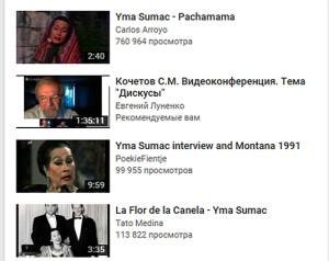 Yma Sumac - vedeoconference Sergei