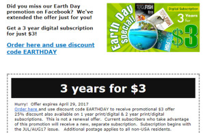 TFH 2017 Earth day subscription
