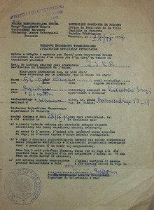 Veterinary certificate Poland 1979 re
