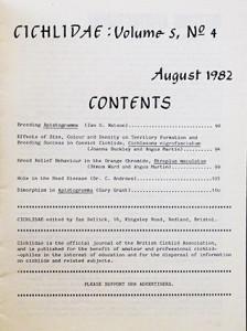 BCA cichlidae 1982 re