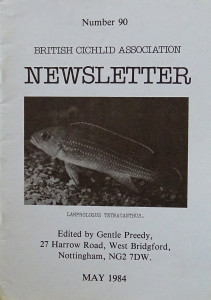 BCA newsletter 1984 re