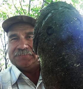 Змееголов пойманный мной на Тунгуске 8 июля, на день рыбак ed.