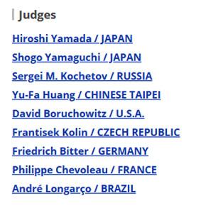 Judges 2019