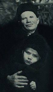 dedushka Ivan Panshev and me 1952 ed